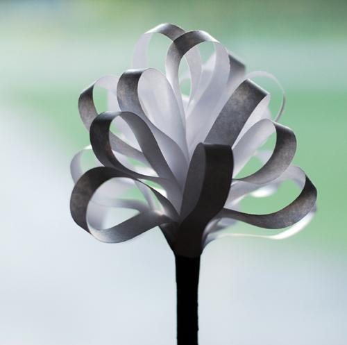 paper cattail flower