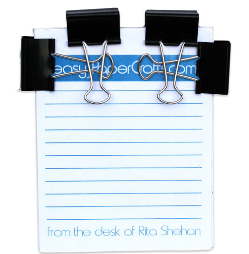binder clips on notepad