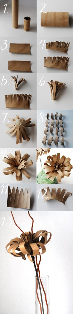 toilet paper tube flower instructions